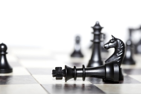 chess men: chess figures - strategy and leadership concept Stock Photo