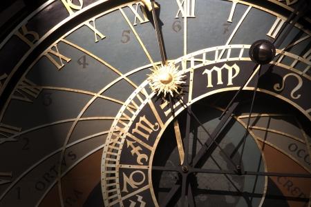 Vecchio orologio astronomico a Praga, Repubblica Ceca Archivio Fotografico - 17169006
