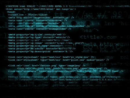 source code: Source code technology background, illustration Stock Photo