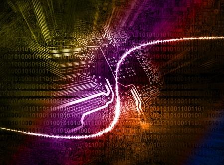 Microchip sfondo - concetto di tecnologia Archivio Fotografico - 17322949