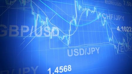 handel: Forex Trading Business-Konzept in Farbe Lizenzfreie Bilder