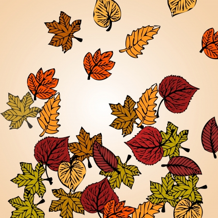 Autumn leaves background concept Stock Vector - 17394927
