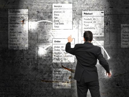데이터베이스 배경 -의 informaton 기술 및 비즈니스 개념 스톡 콘텐츠