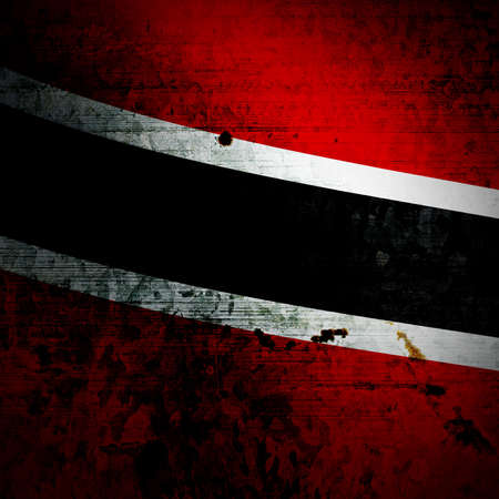 national flag trinidad and tobago: Aged textured Trinidad and Tobago national flag with grunge texture Stock Photo