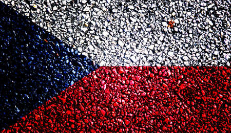 antiqued: Reto national flag of the Czech Republic Stock Photo