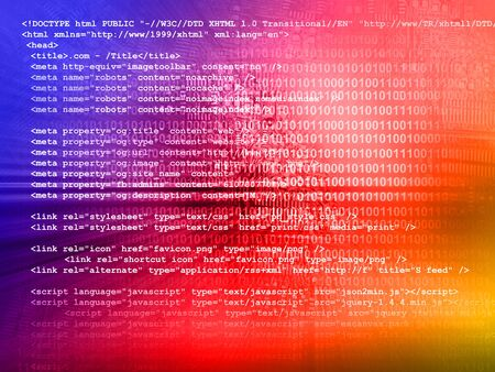 Source code technology background Stock Photo - 17672462