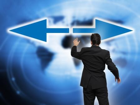 toma de decisiones: Empresas l?der y toma de decisiones con el concepto de las flechas