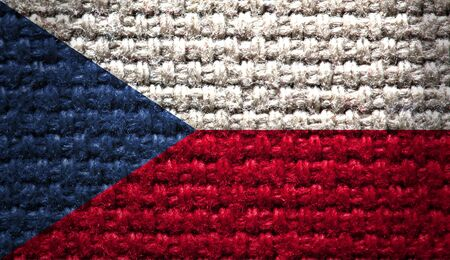 Reto national flag of the Czech Republic photo