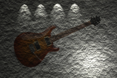 Electric guitar on background photo