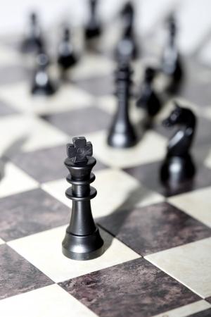 チェス フィギュア - 戦略とリーダーシップの概念 写真素材