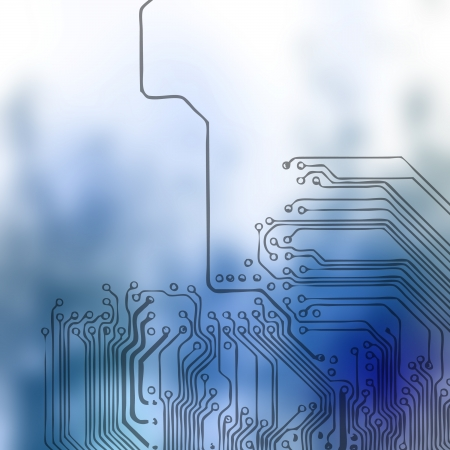 circuitboard: Microchip background - close-up of electronic circuit board with processor