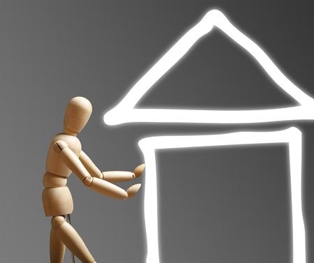 House Idea Concept with Dummy photo