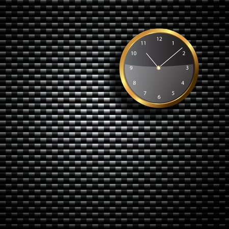 Modern Clock on the textured wall inside the room Stock Photo - 18239130
