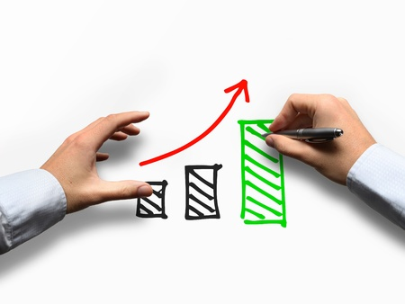 Growth Strategy Concept with Graph Stock Photo - 18415199