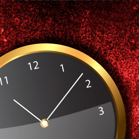 Modern Clock on the textured wall inside the room Stock Photo - 18534098