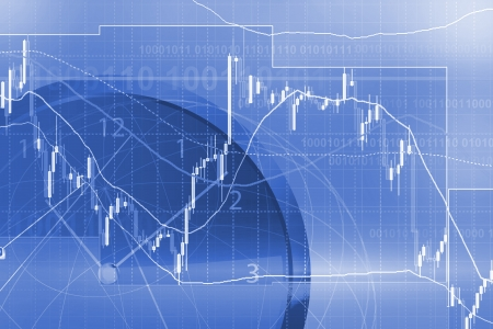 stock trading: Forex trading background concept