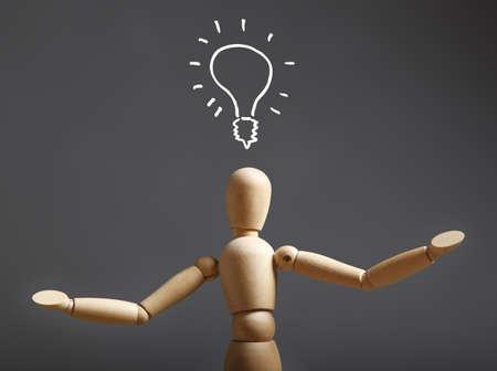light bulb idea concept with dummy Stock Photo - 18702851