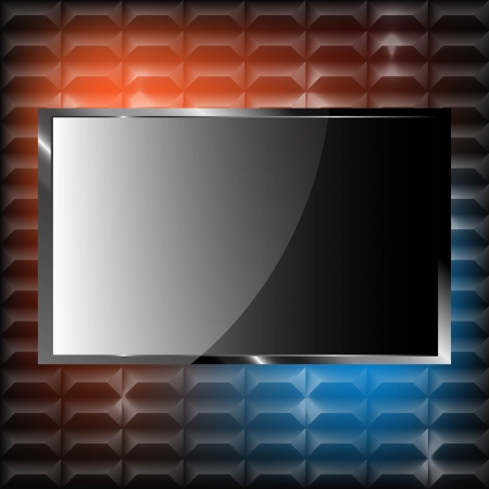 Plasma TV on the wall with pattern Stock Vector - 18849948
