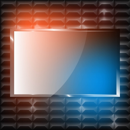 Plasma TV on the wall with pattern Stock Vector - 19059863