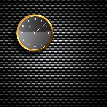 Modern Clock on the textured wall inside the room photo