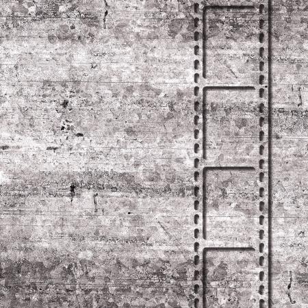 Film grunge background with film strip photo