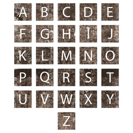 Unique alphabet set with texture and drop shadow photo