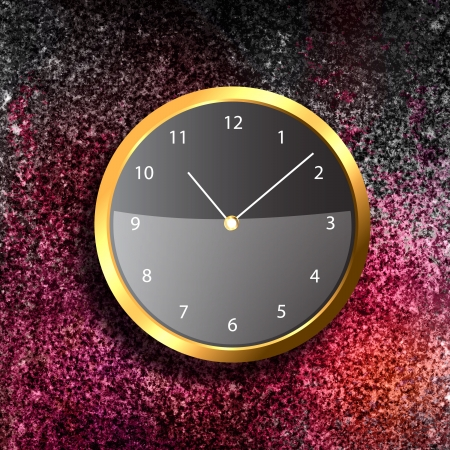 Modern Clock on the textured wall inside the room Stock Photo - 19826596