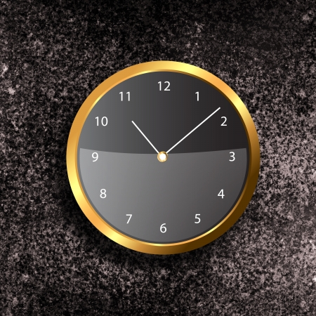 Modern Clock on the textured wall inside the room Stock Photo - 20014067