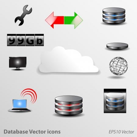 database icon: Database Icons Illustration