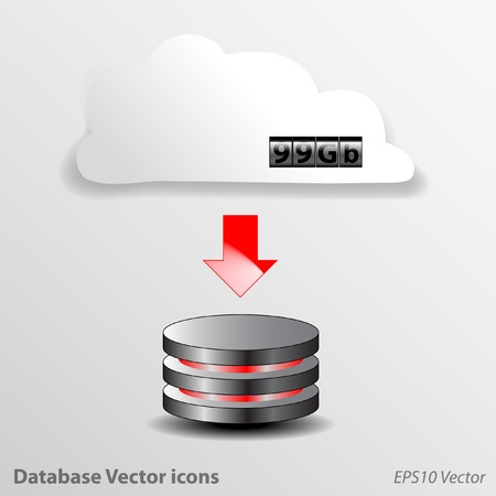 Database Icons Vector Vector