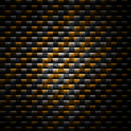 Old grunge background with yellow stripes photo