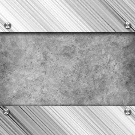 Technology background, metallic with diamond plate texture.. photo