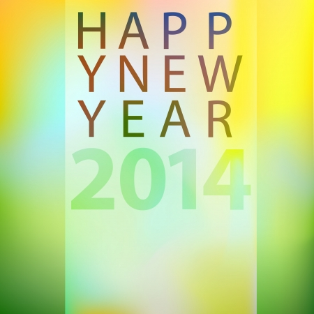 Happy new year 2014 concept for greeting cards Stock Vector - 21802243