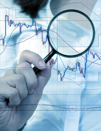 Commodity trading concept with businesswoman Stock Photo