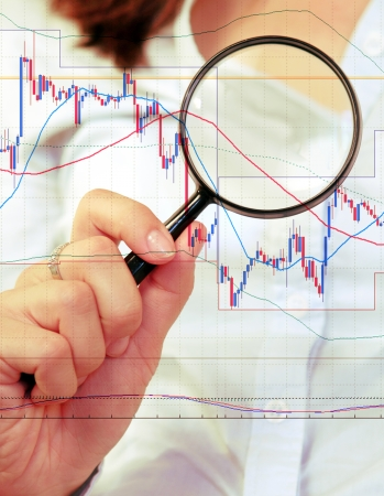 commodity: Commodity trading concept with businesswoman
