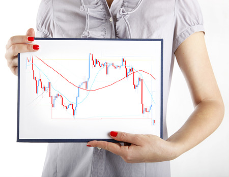 Forex trading business concept on white photo