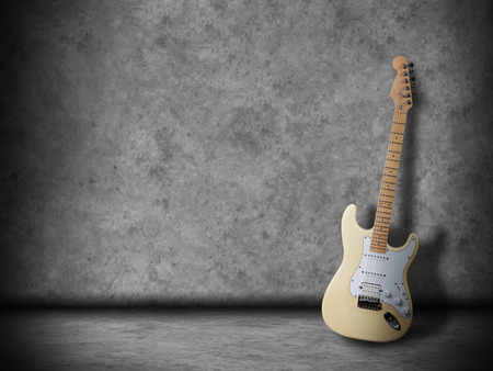 Electric guitar in the empty room photo
