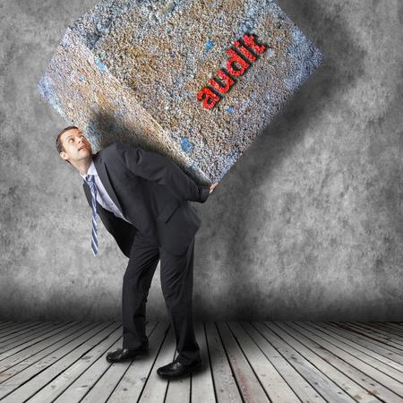 risky job: Businessman walking on journey to success as a business metaphor for entrepreneurship