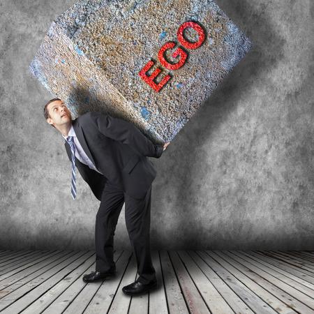 risky innovation: Businessman walking on journey to success as a business metaphor for entrepreneurship