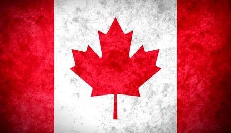 The Canadian colorful textured flag photo