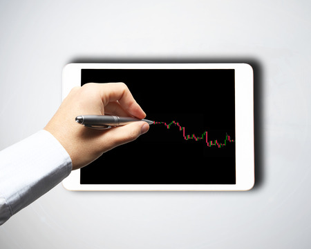 Forex trading background concept photo