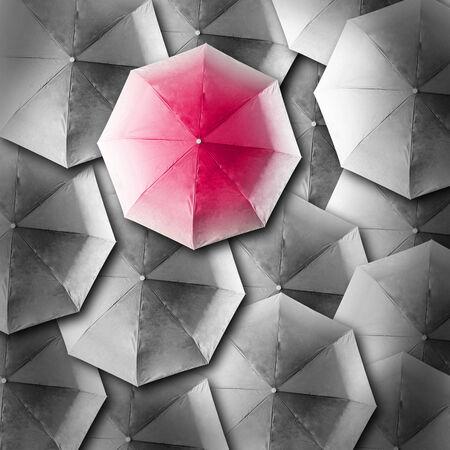 Umbrella background business concept in color photo