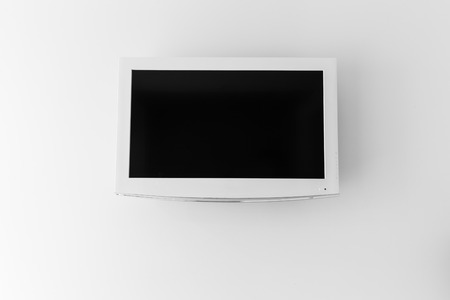 plasma tv: Plasma TV on the white wall of the room