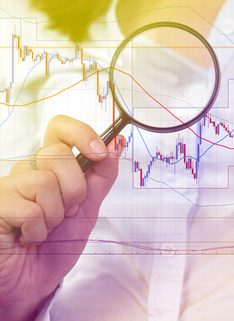 commodity: Commodity trading concept with businessman analysing the chart