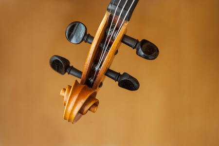blurr: Old violin music concept with blurr Stock Photo