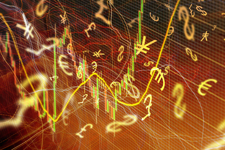 forex: Forex trading background concept with currency symbols
