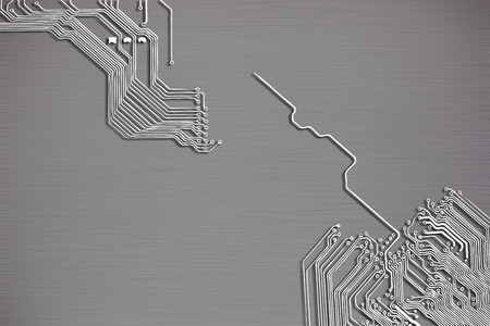 electronic circuit: Microchip background - close-up of electronic circuit board with processor