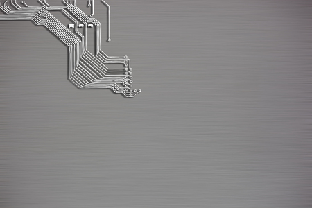 electronic circuit: Microchip background close-up of electronic circuit board with processor