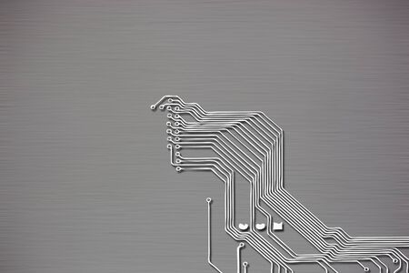electronic background: Microchip background close-up of electronic circuit board with processor