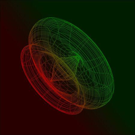 perspectiva lineal: Concepto 3D Vector Resumen Tecnol�gico